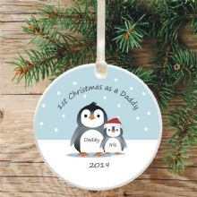 Penguin Tree Bauble Decoration, 1st Christmas as a Mummy/Daddy - Cute Penguin Gift